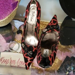Red and black heel